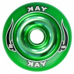 YAK Scooter Wheel 100mm Green w/ Bearings - Razor Lucky Dist