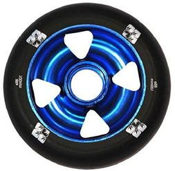 Envy Scooter Wheel Four Spoke Kick Trick Scooters 100mm Blue