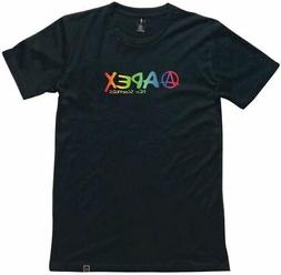 Apex Scooters Rainbow T-Shirt Kids 10 Black