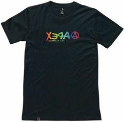Apex Scooters Rainbow T-Shirt Medium Black