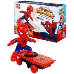 Spiderman Electronic Stunt Scooter Skateboard 360° Rotation