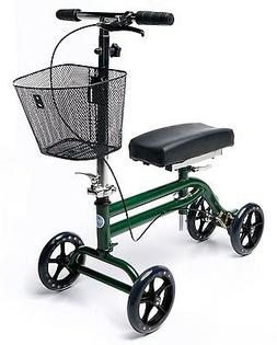Steerable Knee Walker Scooter Turning Folding with Disc Brak