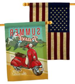 Summer Scooter Travel-USA Vintage-Applique House Flags Pack-