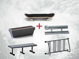 Tech Deck Fingerboard With Rail Finger Skate Board Park Ramp