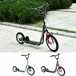 Teens Youth Kick Scooter Height Adjustable Inflatable Tires