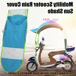 Universal Motor Scooter Blue Umbrella Mobility Sun Shade Rai