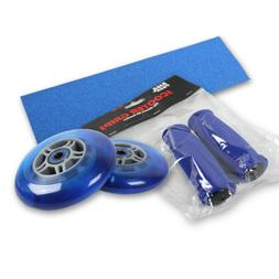 Kick Push Upgrade Pack for Razor Scooter Blue Wheels, Handle