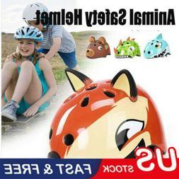 US Child Bike Bicycle Helmet Dinosaur Fox Chipmunk Bear Cycl
