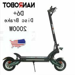 "US NANROBOT City Commute Electric Scooter D6+10""-2000W-52V"