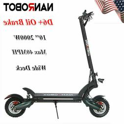 US NANROBOT D6+ Electric Scooter 2000W Adult Dual Motor Oil
