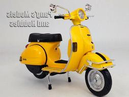 Vespa P200E Scooter 1/12 Scale Die-cast Metal Model - YELLOW