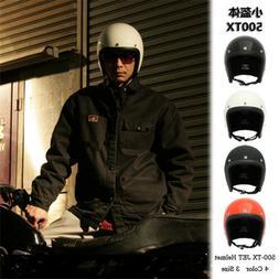 Vintage Japan tt&co 500TX Helmet Motorcycle Motorbike Jet Sc