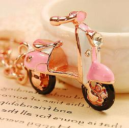 vintage scooter shaped keychain,retro scooter key ring,CUTE