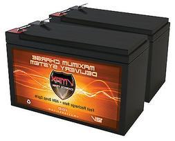QTY 2 12V 10AH AGM Batteries for RAZOR ES300 E200 E300 Bella