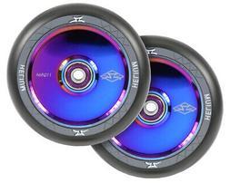 NEW AO Wheels 110mm Helium Black / Oil Slick Scooter Trick F